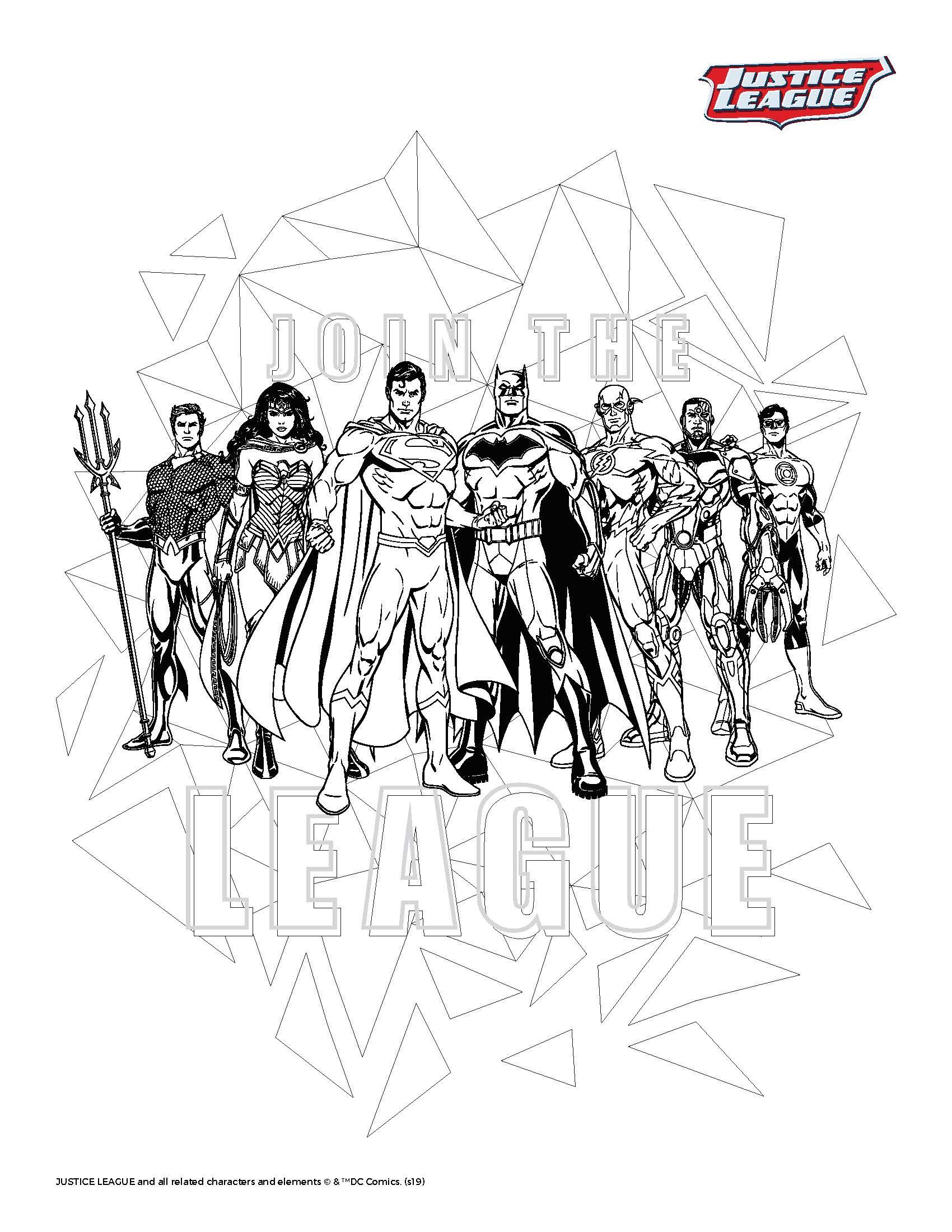 justice league printable