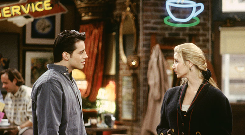 Friends - Joey and Phoebe at Central Perk