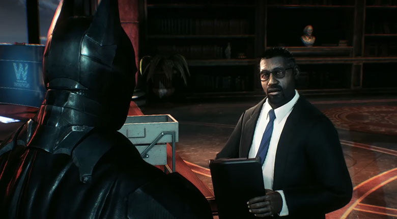 batman arkham lucius fox