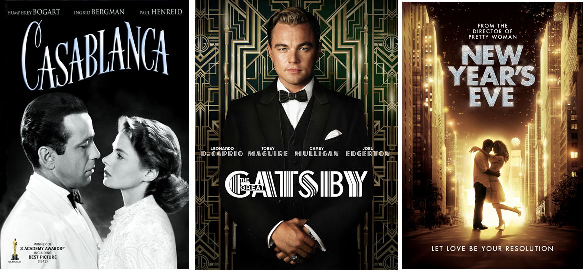 Casablanca, The Great Gatsby, New Year's Eve