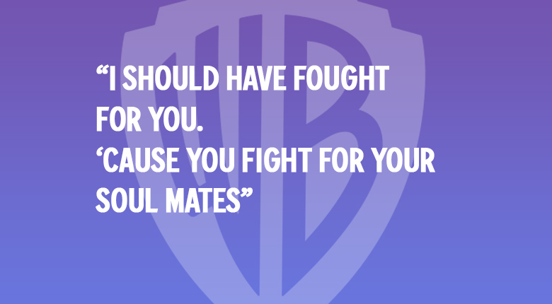 """I should have fought for you. 'Cause you fight for your soul mates."" WARNER BROS. UK MOVIE QUOTES QUIZ"